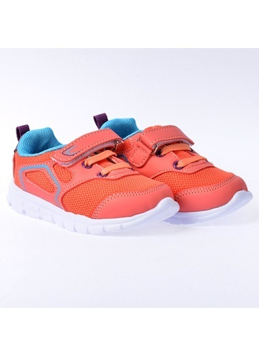 Kiko Kids Kiko S27 Günlük Fileli Cırtlı Kız/Erkek Çocuk Spor Ayakkabı Somon